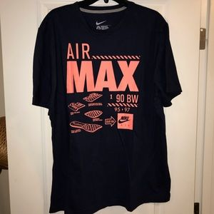 Nike Air Max T shirt XL navy pink